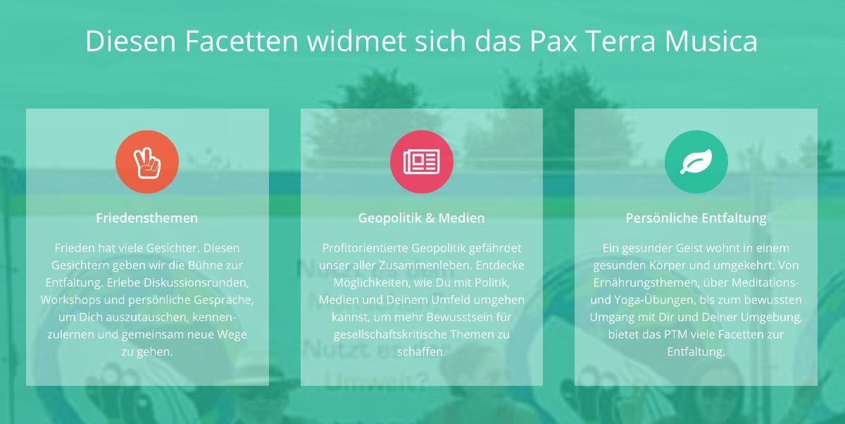 Facetten des Pax Terra Musica