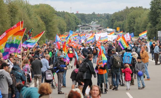 Friedensdemonstration in Ramstein 2017