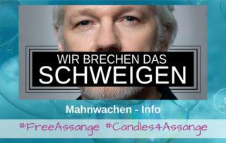 Assange Mahnwachen in Deutschland