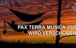Banner Pax Terra Musica von 2020 auf 2021 verschoben